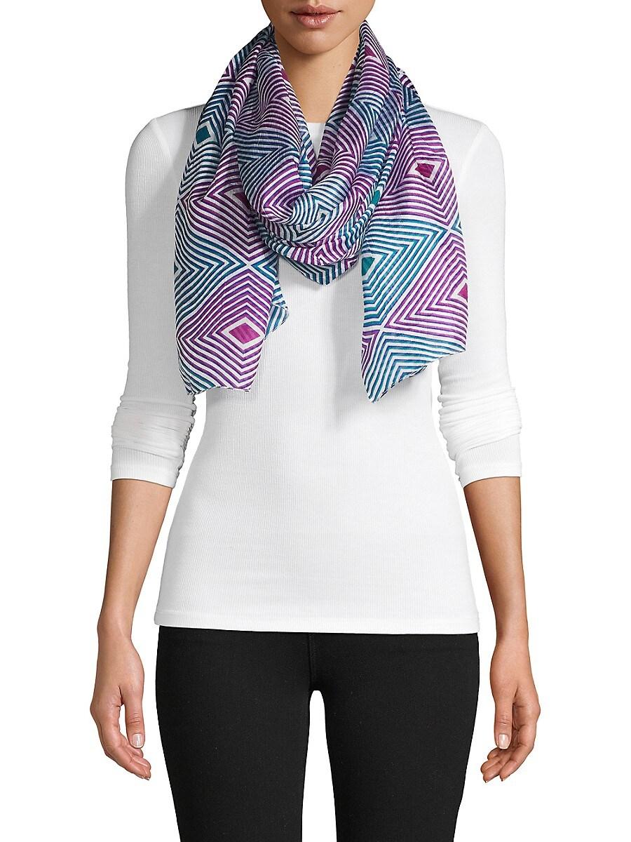 Women's Geometric Silk Scarf