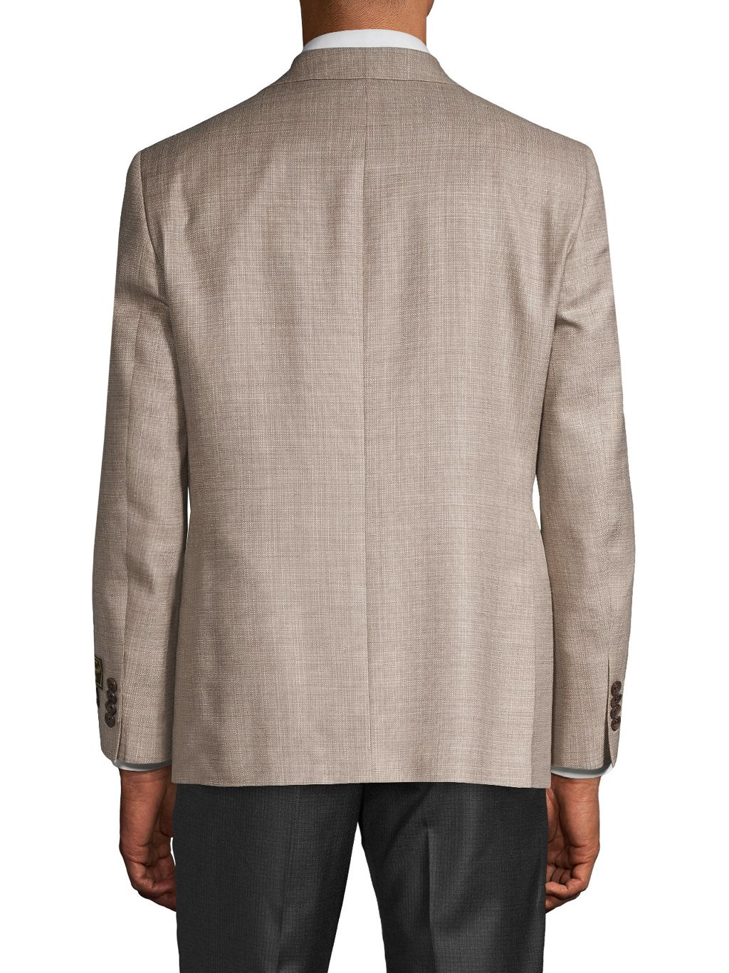 Saks Fifth Avenue Made in Italy Regular-Fit Wool, Silk & Linen Textured Sportcoat