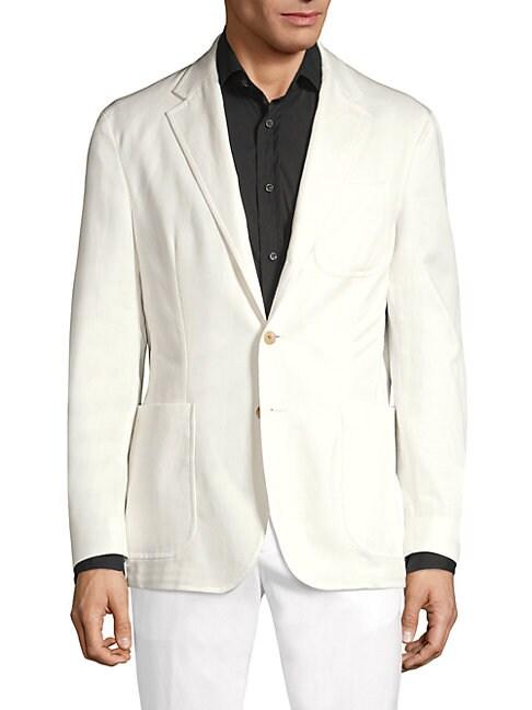 Ralph Lauren Single Breasted Washed Tencel Jacket