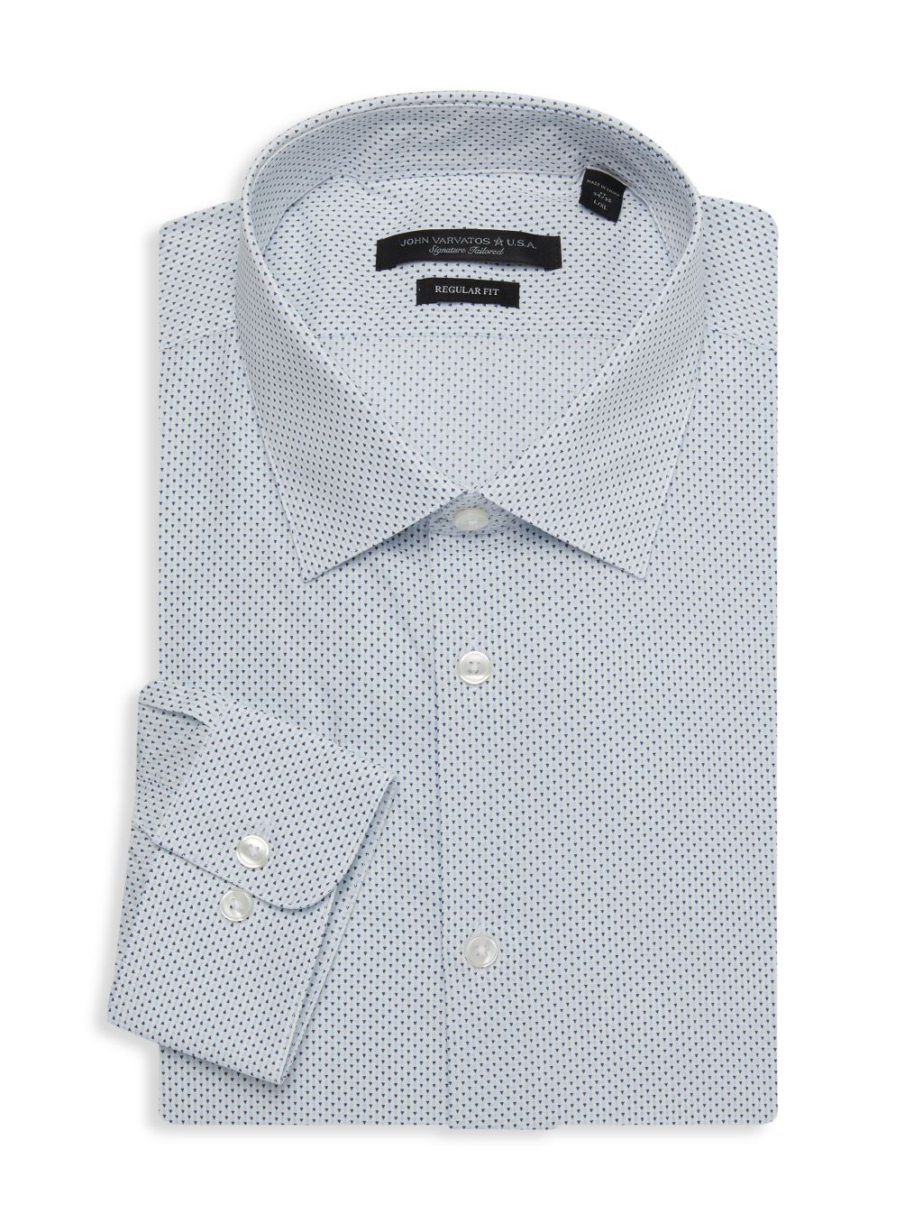 John Varvatos Star U.S.A. Spencer Regular-Fit Print Dress Shirt