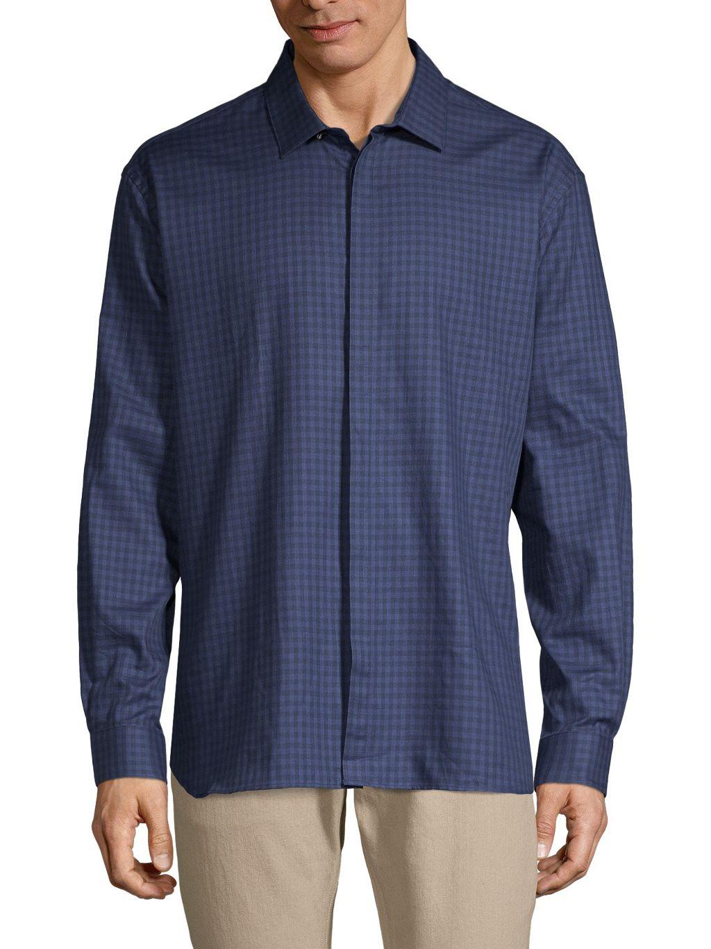 John Varvatos Star U.S.A. Slim-Fit Long-Sleeve Plaid Shirt