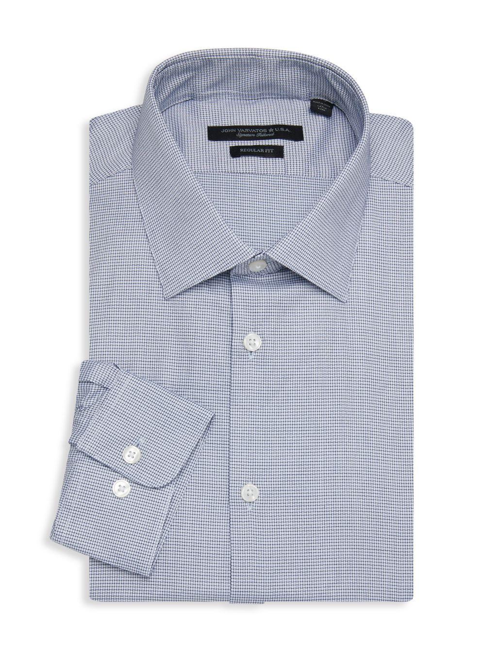 John Varvatos Star U.S.A. Spencer Regular-Fit Check Dress Shirt