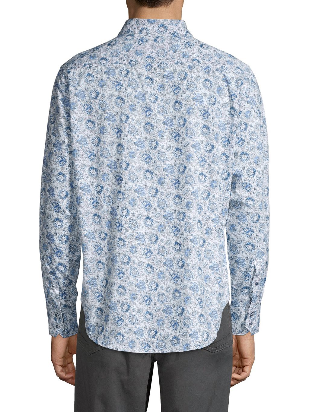 Robert Graham Classic-Fit Floral-Print High-Low Shirt