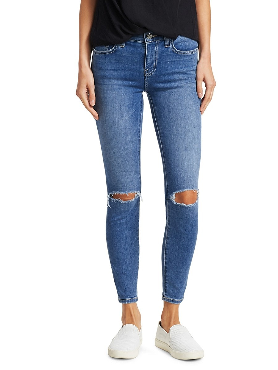 Current/Elliott Women's The Stiletto Distressed Ankle Jeans