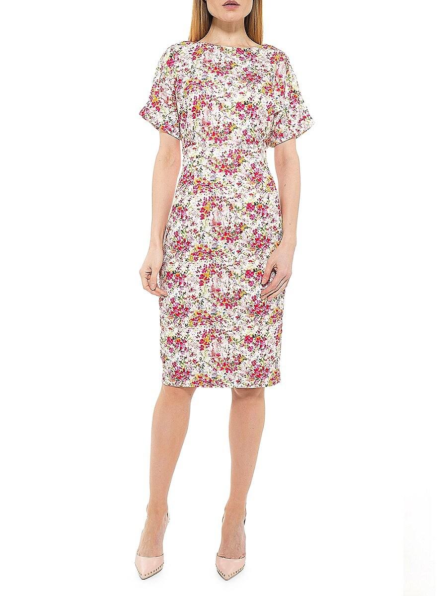 Women's Ditsy Floral Sheath Dress
