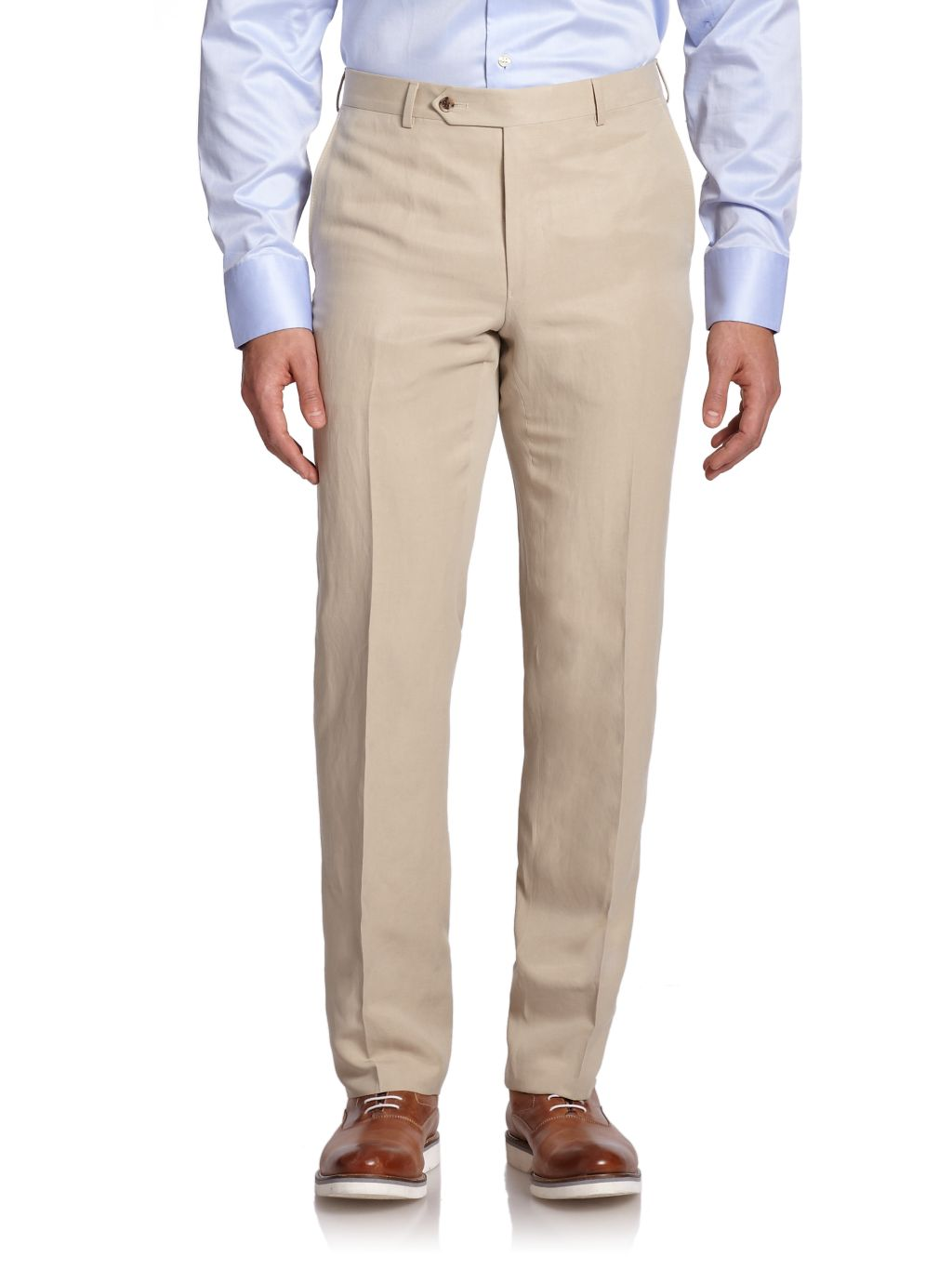 Saks Fifth Avenue COLLECTION BY SAMUELSOHN Classic-Fit Linen & Silk Trousers