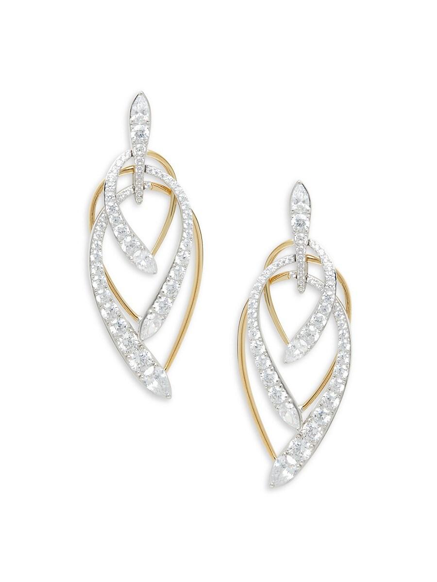 Women's Devona Goldplated Sterling Silver & Crystal Earrings