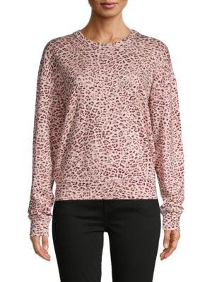 N:philanthropy Leopard-print Cotton-blend Sweatshirt In Blossom
