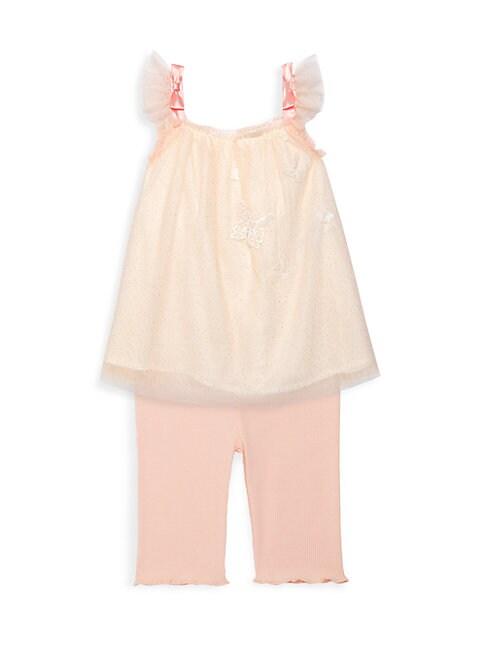 Miniclasix Baby Girl S Top Capri Legging 2 Piece Set In Pink Modesens