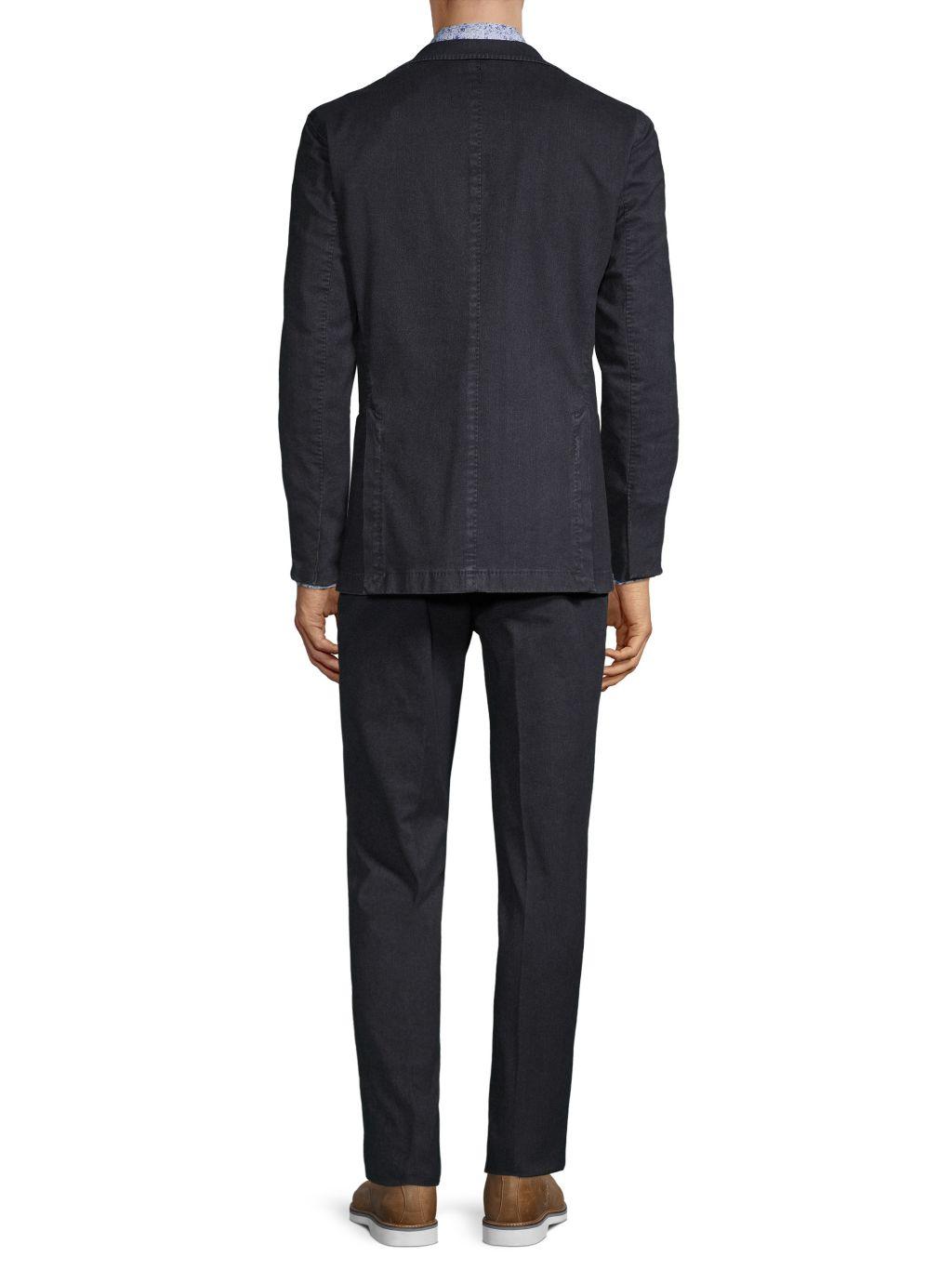 Boglioli Standard-Fit Denim Suit