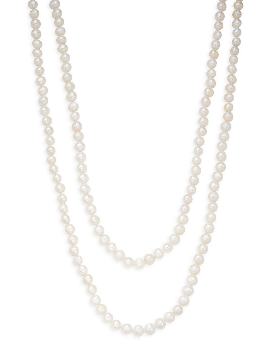 """Women's 9-10MM Freshwater Pearl Long Necklace/80"""""""