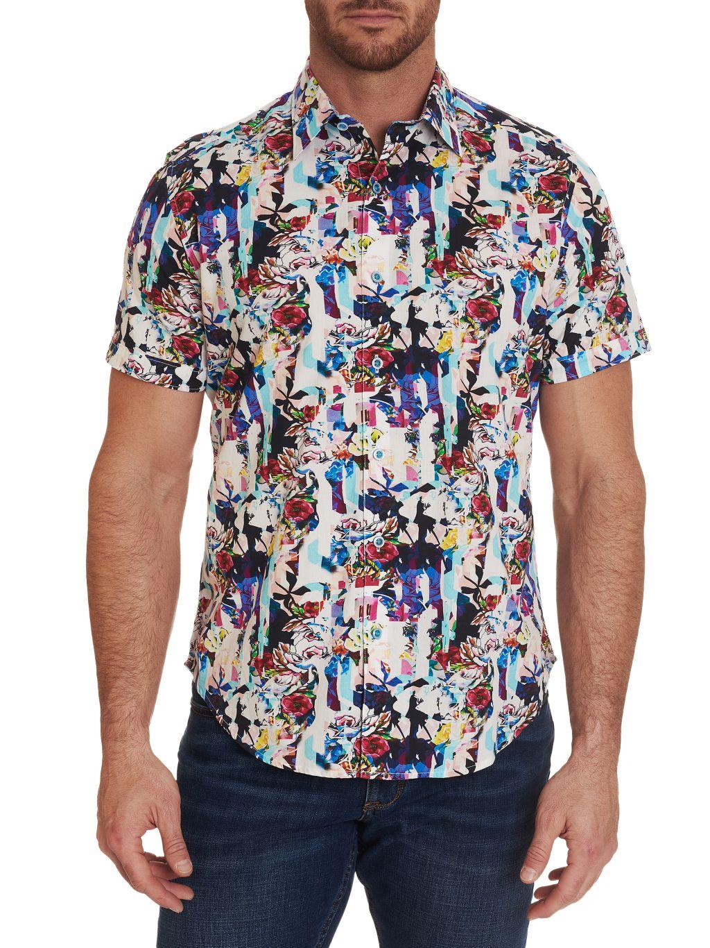 Robert Graham Aviation Classic-Fit Floral Short-Sleeve Shirt