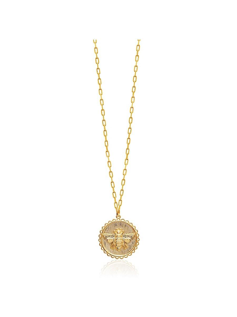 Women's 22K Gold Vermeil Queen Bee Pendant Necklace