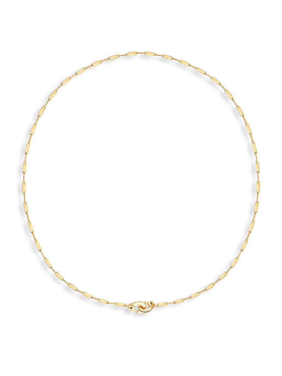 Women's 22K Goldplated Handcuff Chain Necklace
