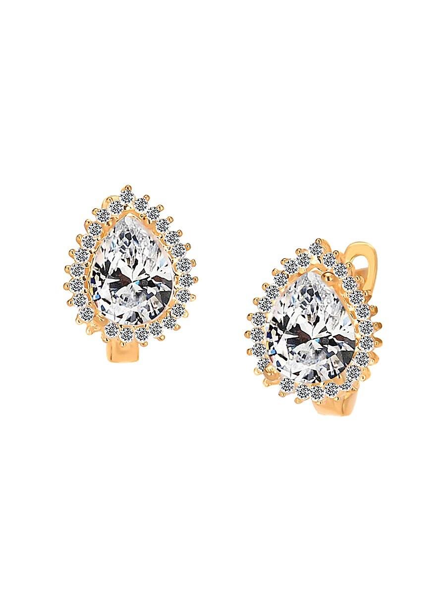 Women's French Enamel & Cubic Zirconia Lion Pendant Necklace