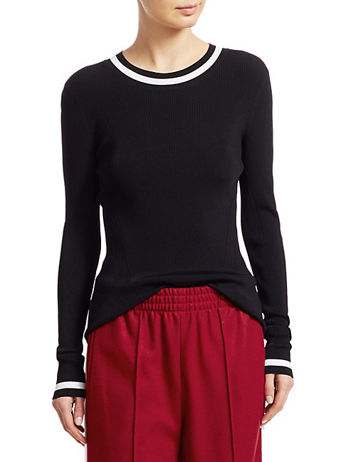 Rag amp Bone Priya Varsity Stripe Long Sleeve Tee