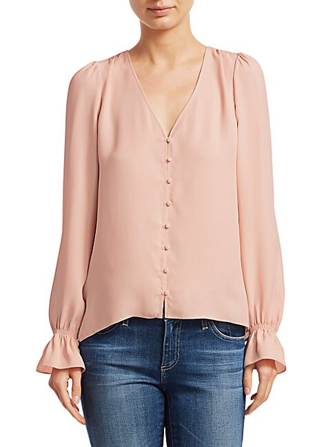 Joie Bolona Long Puff Sleeve Blouse
