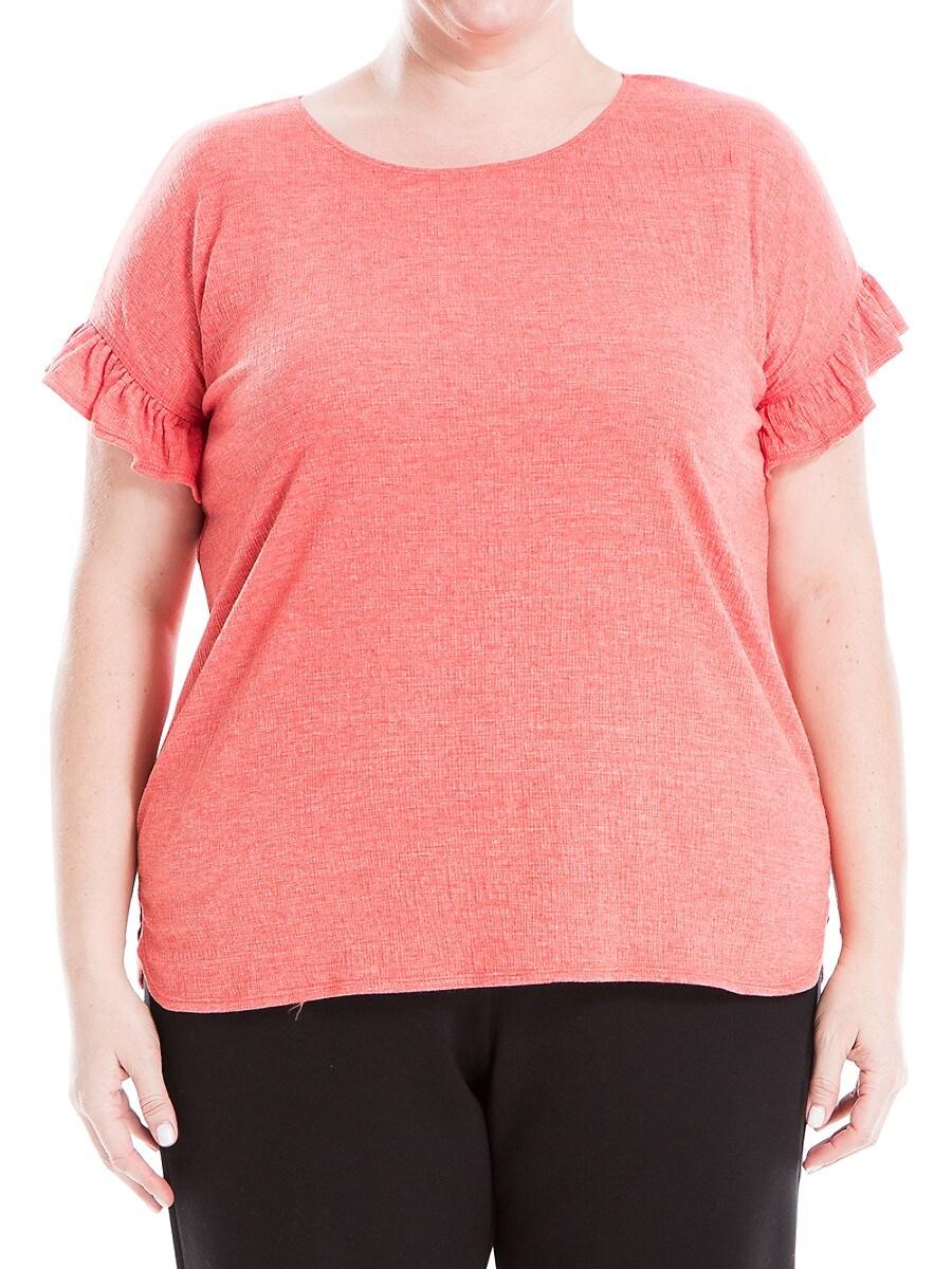 Women's Plus Ruffle-Sleeve top