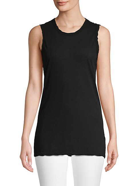 James Perse Black Cotton Tank Top