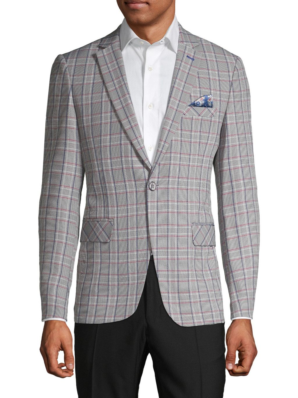 RNT23 Standard-Fit Checkered Sportcoat