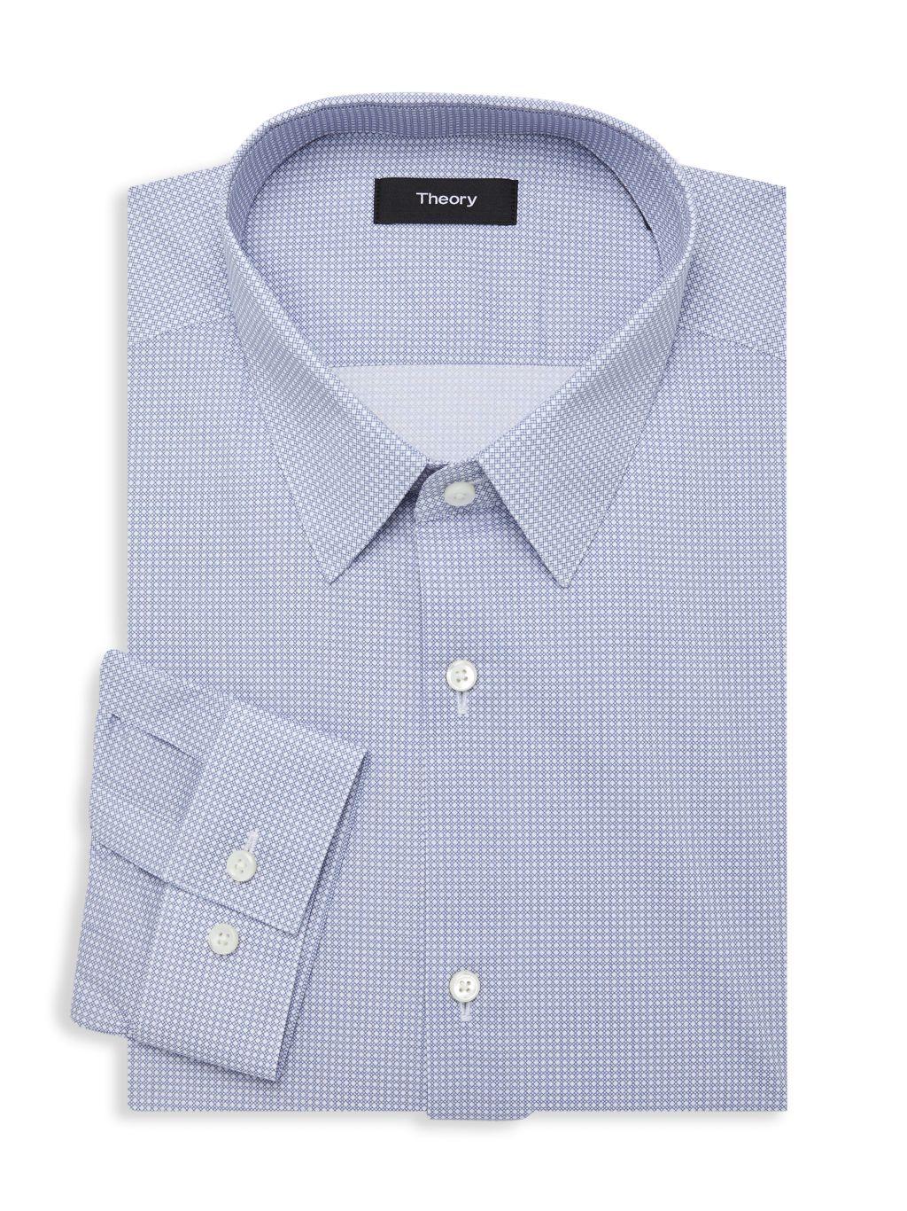 Theory Cedrick-Printed Dress Shirt