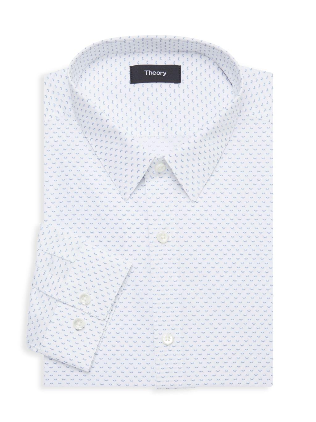 Theory Chevron-Print Dress Shirt