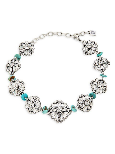 Dannijo Betsy Swarovski Crystal & Synthetic Turquoise Necklace