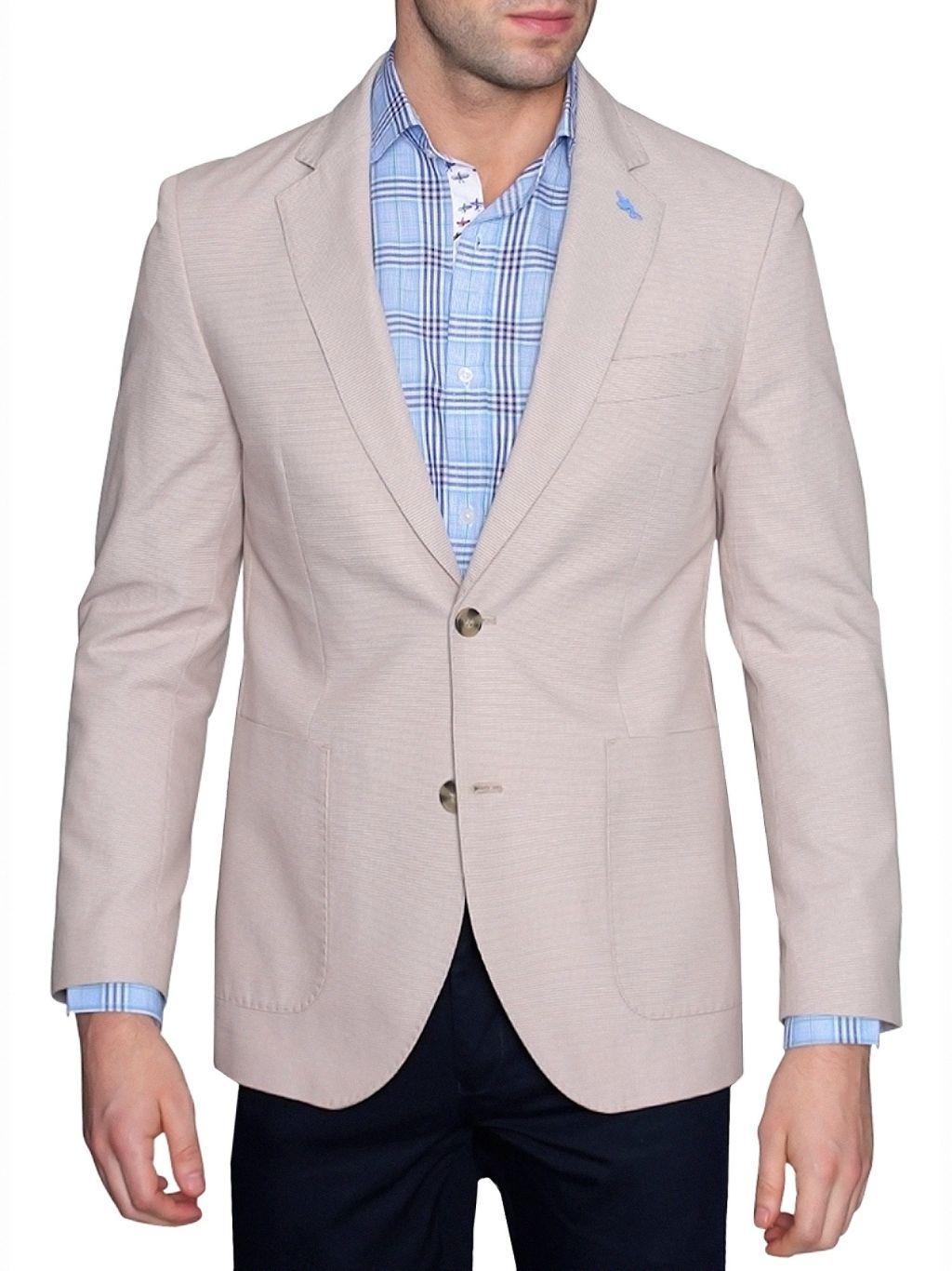 TailorByrd Standard-Fit Cotton Dobby Jacket