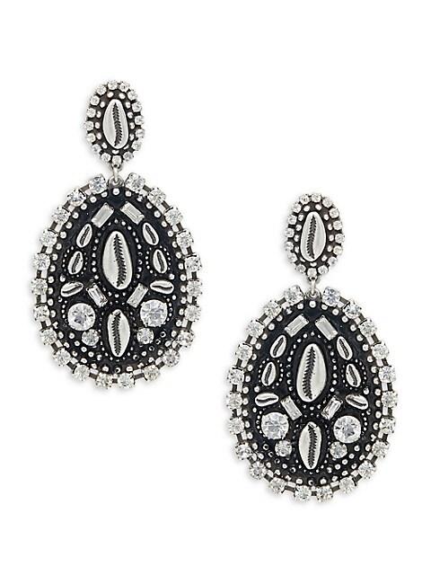 Dannijo Spano Swarovski Crystal Drop Earrings