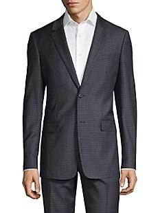 띠어리 Theory Plaid Wool Suit Jacket,ECLIPSE