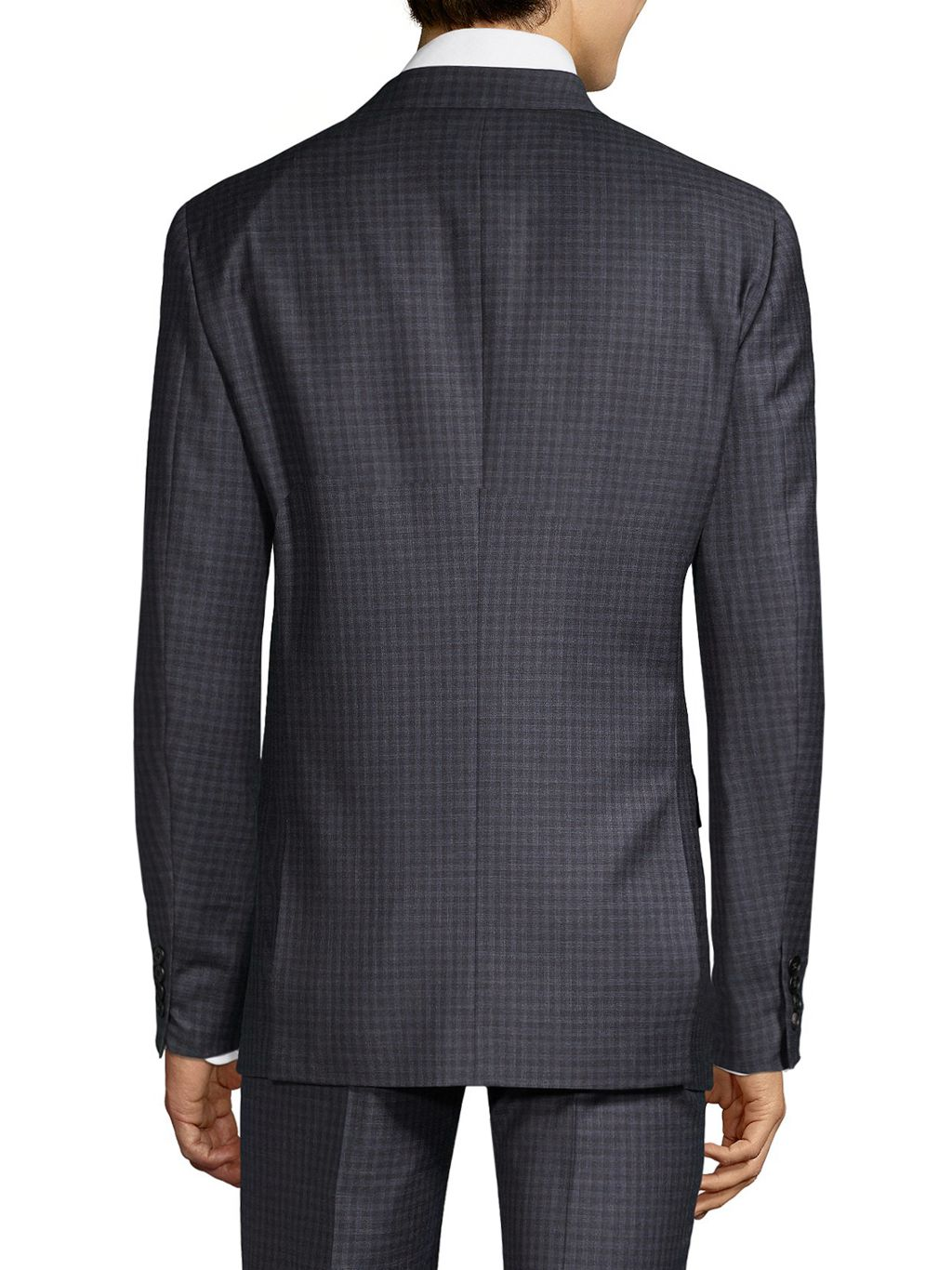 Theory Plaid Wool Suit Jacket