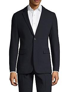띠어리 Theory Tailored-Fit Wool-Blend Suit Jacket,ECLIPSE