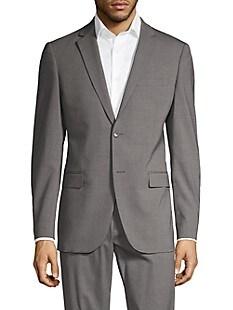 띠어리 Theory Wool-Blend Suit Jacket,SILVER HEATHER