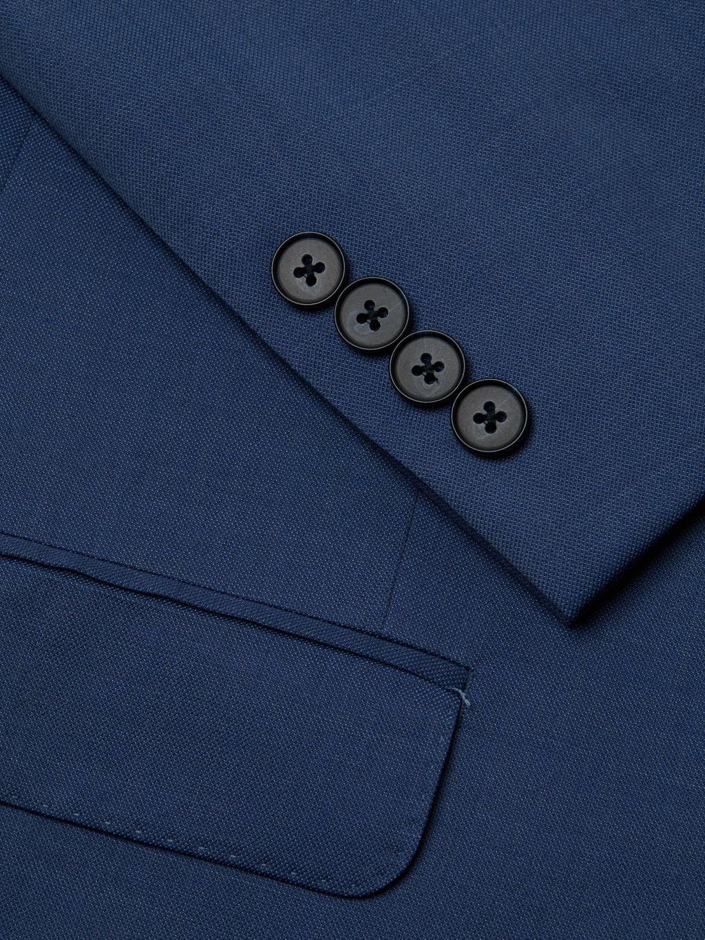 Calvin Klein Slim-Fit Textured Solid Wool-Blend Suit