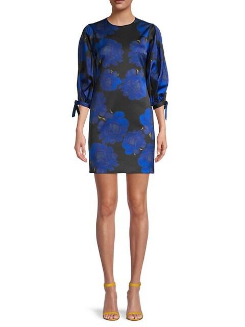Peony-Print Stretch-Brocade Mini Dress $79.99 (79% OFF)
