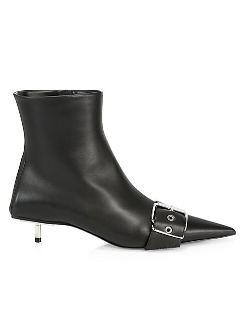BALENCIAGA BELT LEATHER ANKLE BOOTS
