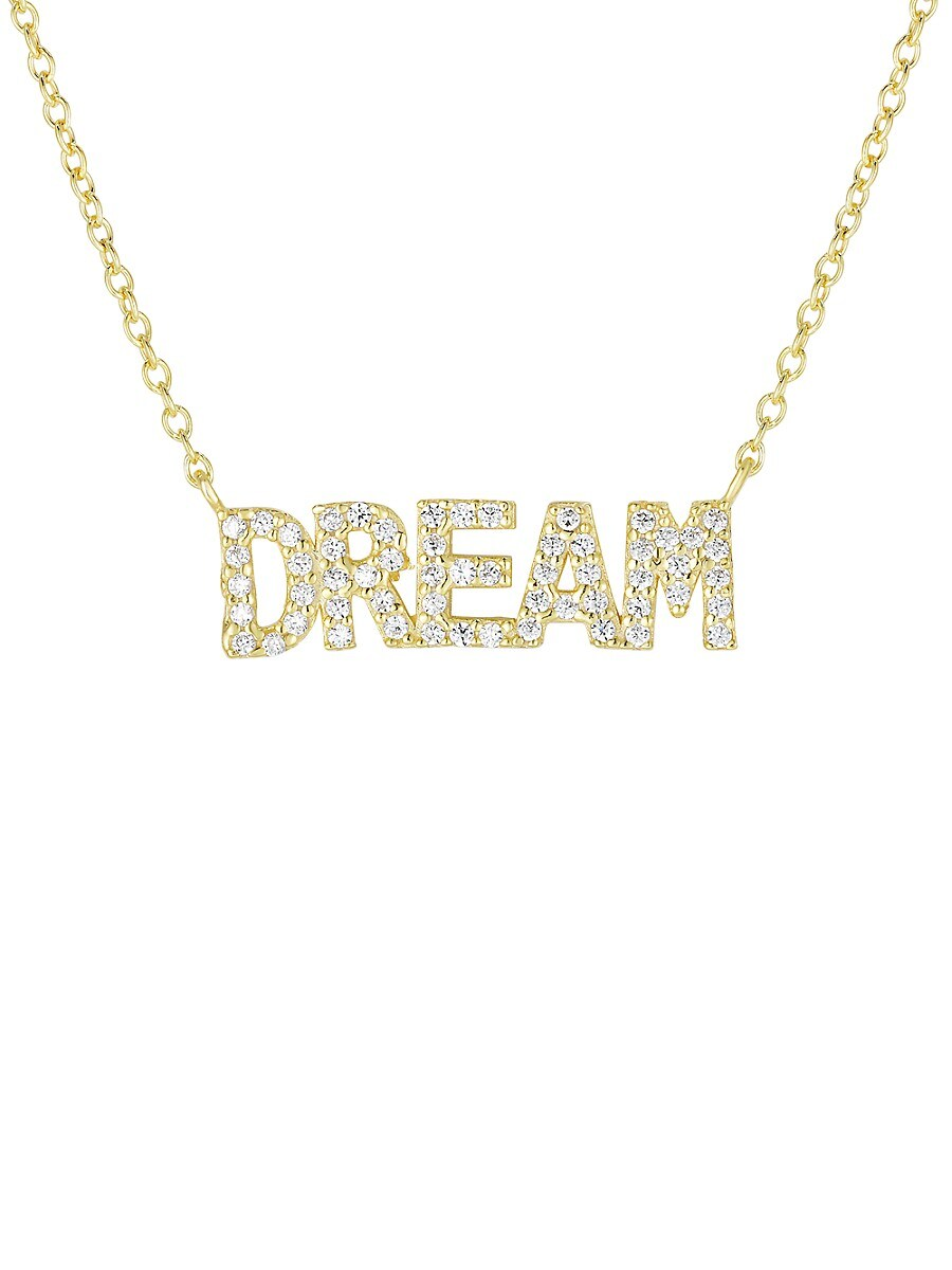 Women's 18K Goldplated Sterling Silver & Crystal Dream Pendant Necklace