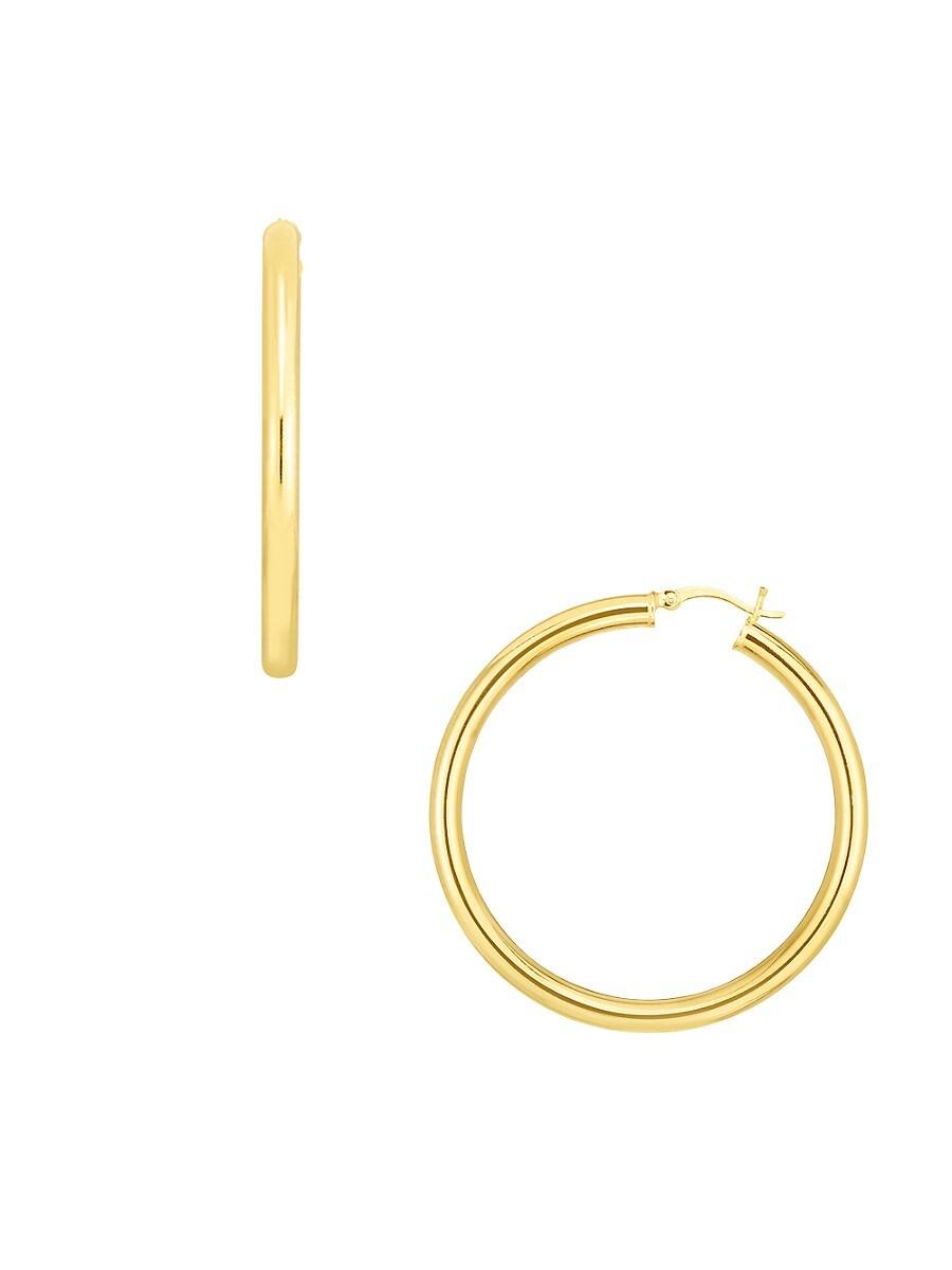 Women's 18K Goldplated Sterling Silver Hoop Earrings