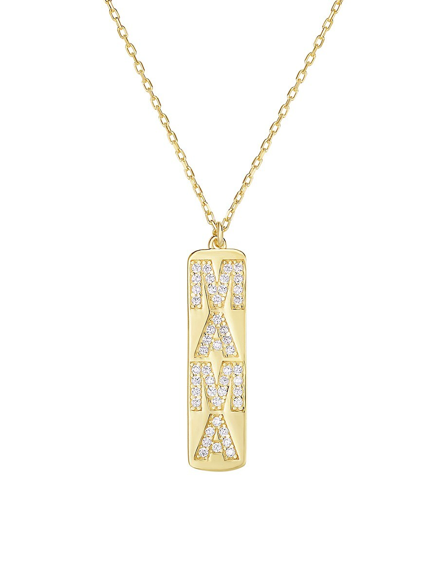 Women's 18K Goldplated Sterling Silver & Crystal Pendant Necklace