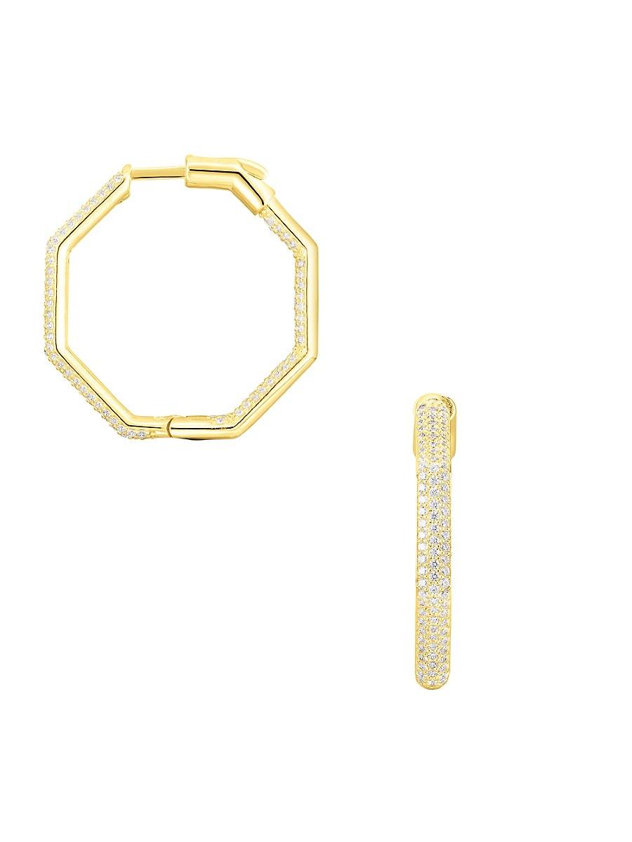 Women's 18K Yellow Goldplated Sterling Silver Earrings