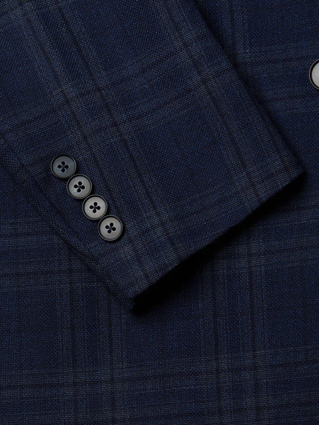 Calvin Klein Slim-Fit Plaid Wool-Blend Jacket