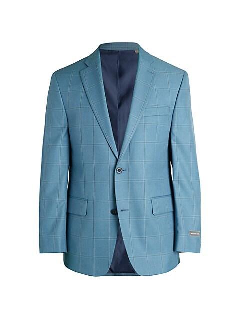 Michael Kors Classic-Fit Windowpane Check Jacket $41.98 (89% OFF)
