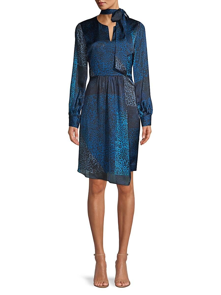 Women's Alara Leopard-Print Patchwork Dress
