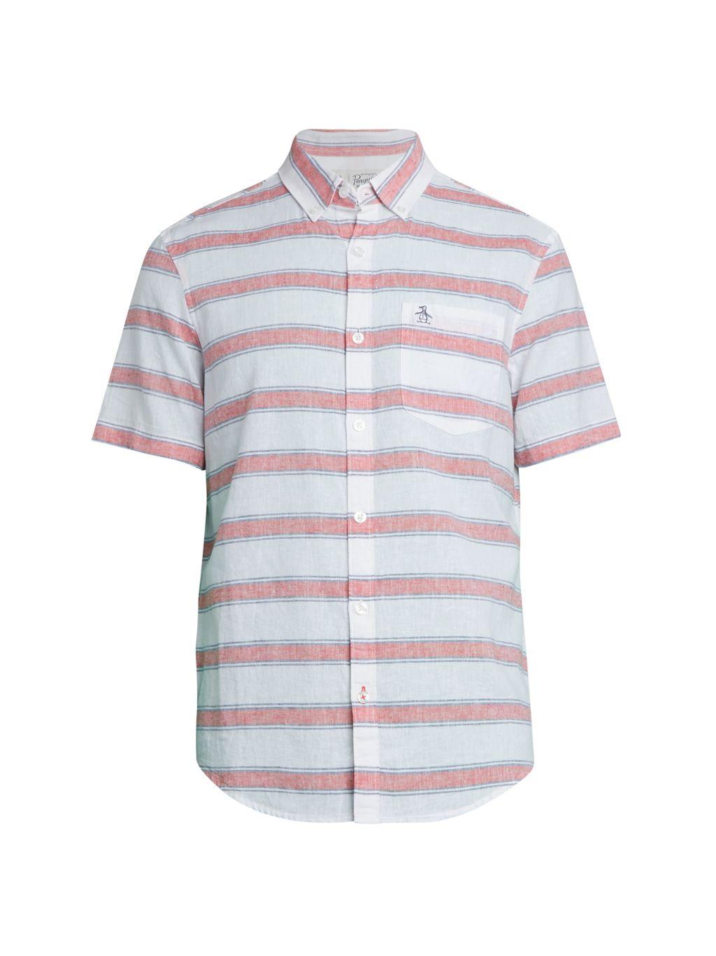 Original Penguin Stripe Linen & Cotton Shirt