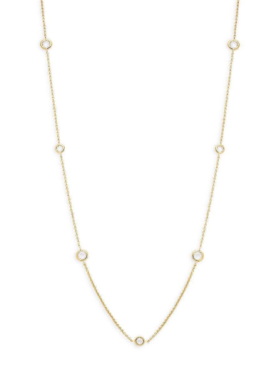Women's Goldtone Cubic Zirconia Station Necklace