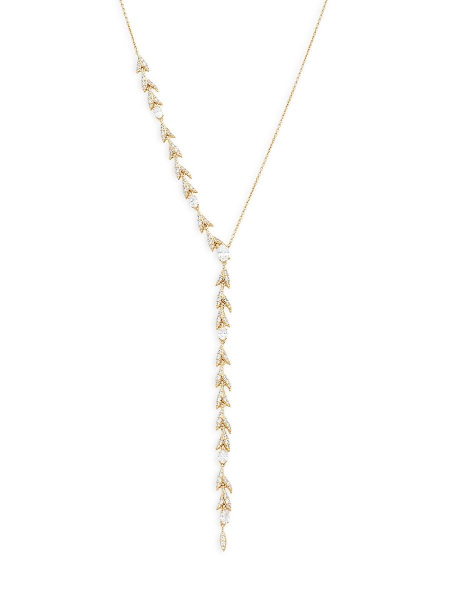 Women's Goldplated & Crystal Liv Leaf Y-Necklace