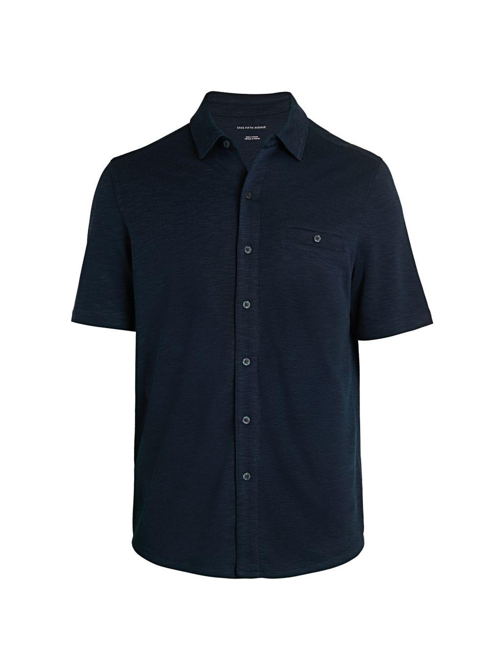 Saks Fifth Avenue Short-Sleeve Jersey Shirt