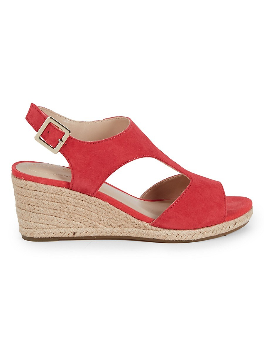 Women's Suede Wedge Espadrille Sandals