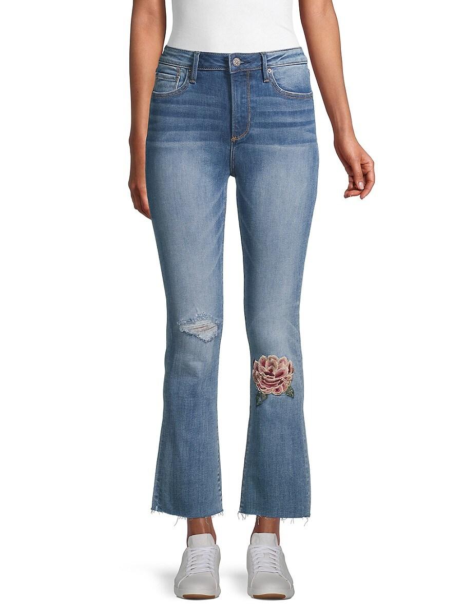 Women's Roxy x Mischief Embroidery Kick Flare Jeans