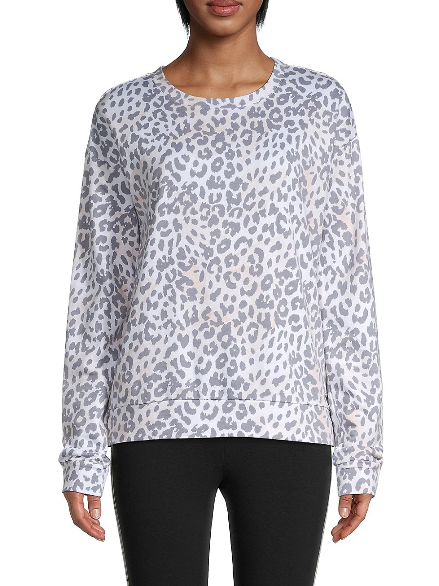 Women's Leopard-Print Top
